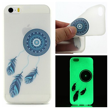Capinha Para iPhone 6 iPhone 6 Plus Brilha no Escuro Estampada Capa Traseira Apanhador de Sonhos Macia TPU para iPhone 6s Plus iPhone 6