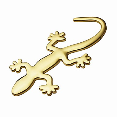 ziqiao 3d pure metal gekko stickers persoonlijkheid sticker auto decoratie