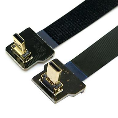 cy® turnup micro HDMI naar micro HDMI kabel FPC turndown voor FPV (0.1m)