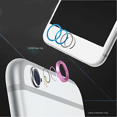 hoogwaardige metalen home-knop afdekring beschermer cirkel + aluminium camera lenskap guard voor iPhone 6 / 6s