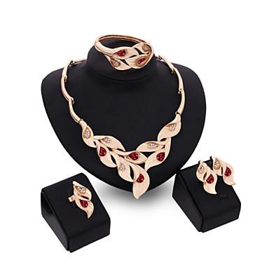 Γυναικεία Κρυστάλλινο Κρύσταλλο Κράμα Νυφικό Γάμου Πάρτι Δακτυλίδια 1 Ζευγάρι σκουλαρίκια 1 Βραχιόλι Κολιέ Κοστούμια Κοσμήματα