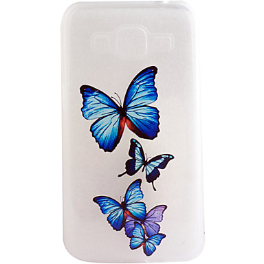 Voor Samsung Galaxy hoesje Transparant / Patroon hoesje Achterkantje hoesje Vlinder TPU SamsungOn 7 / On 5 / J7 / J5 / J3 / J1 / Grand