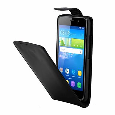 Voor Huawei hoesje Flip hoesje Volledige behuizing hoesje Effen kleur Hard PU-leer Huawei