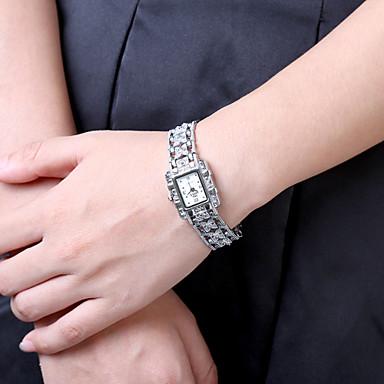 Mulheres Relógio de Pulso Venda imperdível Aço Inoxidável Banda Amuleto / Fashion Preta / Branco