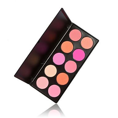 10 Blush Secos Pó Gloss Colorido / Longa Duração / Natural / Respirável Rosto Vermelho