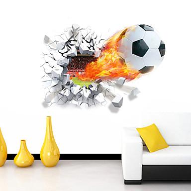 Cartoon Romantiek Sport 3D Muurstickers 3D Muurstickers Decoratieve Muurstickers,Vinyl Materiaal Verwijderbaar Huisdecoratie Muursticker