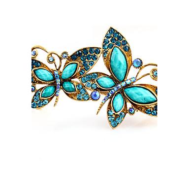 Bruiloft / Feest / Dagelijks - Haarspelden (Legering / Strass , Blauw)