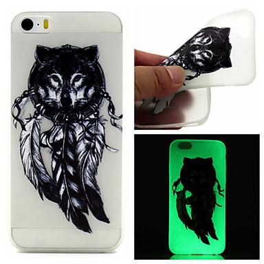 Voor iPhone 5 hoesje Hoesje cover Glow in the dark Achterkantje hoesje Dromenvanger Zacht TPU voor iPhone SE/5s iPhone 5