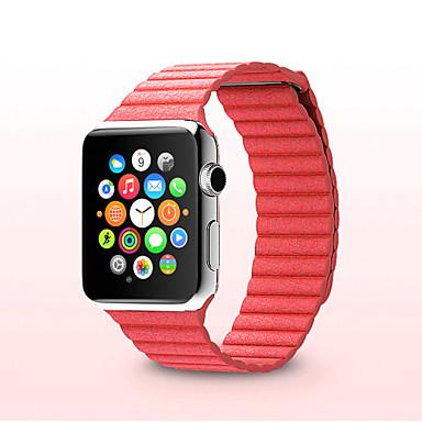 Horlogeband voor Apple Watch Series 3 / 2 / 1 Apple Leren lus Echt leer Polsband