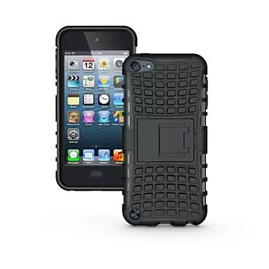 Недорогие Чехлы и кейсы для iPod-ТПУ + PC гибрид прочный резиновый доспехи стоят тяжелые случаи крышка для Ipod Touch 5