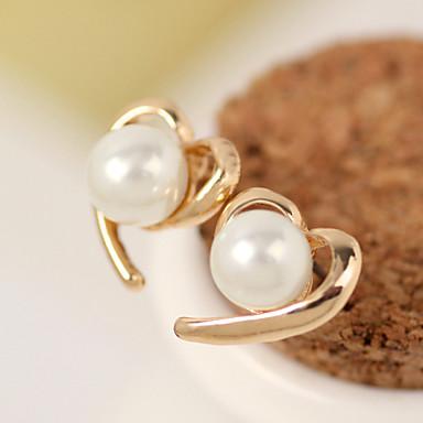 Oorknopjes Hart Legering Hartvorm Gouden Sieraden Voor Bruiloft Feest Dagelijks Causaal 1 stuks