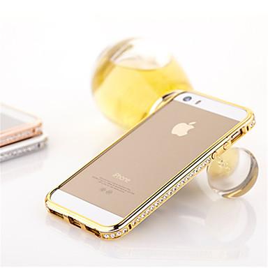voordelige iPhone 5 hoesjes-hoesje Voor iPhone 5 iPhone SE / 5s / iPhone 5 Strass Bumper Effen Hard Metaal