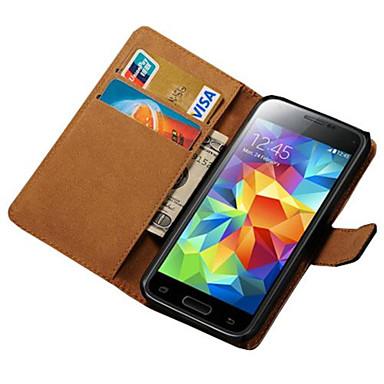 Maska Pentru Samsung Galaxy Samsung Galaxy Carcasă Titluar Card Portofel Cu Stand Întoarce Carcasă Telefon Culoare solidă PU piele pentru