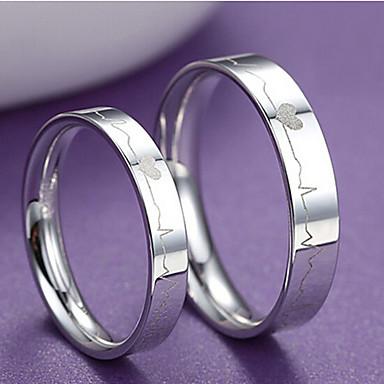 Homme / Femme Couple de Bagues - Argent sterling Mode 15 Pour Mariage / Soirée / Quotidien / Plusieurs Pierres