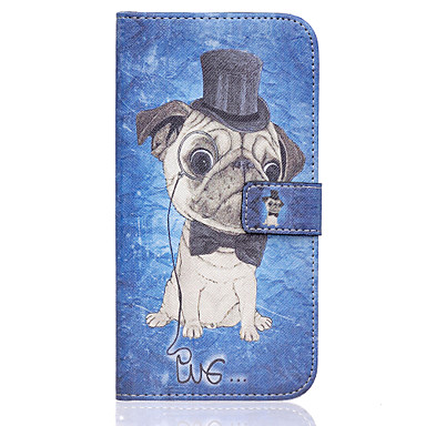 Para Samsung Galaxy Capinhas Porta-Cartão / Carteira / Com Suporte / Flip Capinha Corpo Inteiro Capinha Cachorro Couro PU SamsungS7 edge