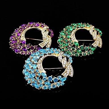 Dames Strass Verguld Paars Groen Blauw Sieraden Feest Causaal Kostuum juwelen