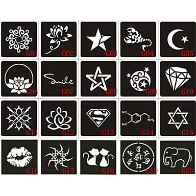 N/A - Airbrush tatoeages - Non Toxic / Patroon - Airbrush tatoeagestencils - voorBaby / Kind / Dames / Girl / Heren / Volwassene / Boy /