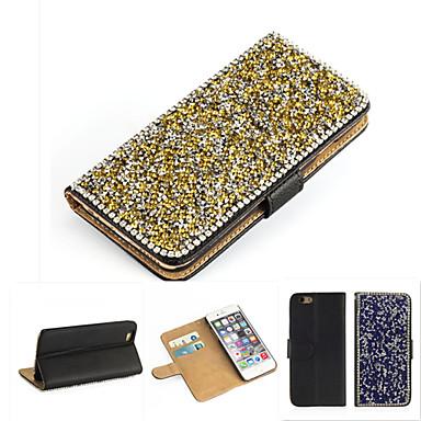 cristal bling do luxo& saco Bolsa em couro diamante para iphone 6s 6 / iphone (cores sortidas)