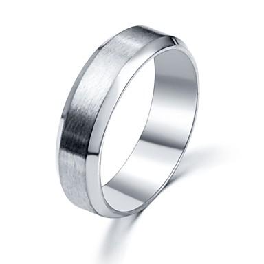 Anéis Casamento / Pesta / Diário / Casual Jóias Aço Inoxidável Feminino Anéis Grossos 1pç,Ajustável