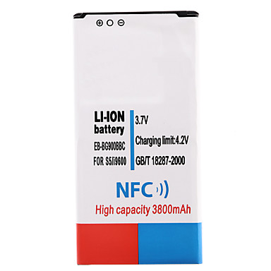 3.7V 3800mAh bateria Li-ion com NFC para Samsung i9600 S5