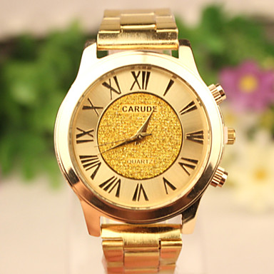 Homens Relógio de Pulso Quartzo Relógio Casual Rosa Folheado a Ouro Aço Inoxidável Banda Dourada