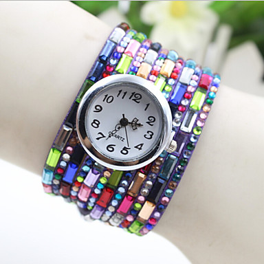 Dames Modieus horloge Armbandhorloge Kwarts Stof Band Zwart Wit Blauw Rood Paars Wit Zwart Paars Rood Blauw