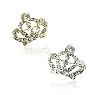 liga de mulheres / strass broche coroa de cristal broche de casamento / partido 1pc