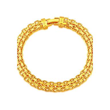 Heren Dames Armbanden met ketting en sluiting Verguld Sieraden Voor Bruiloft Feest Dagelijks Causaal Sport