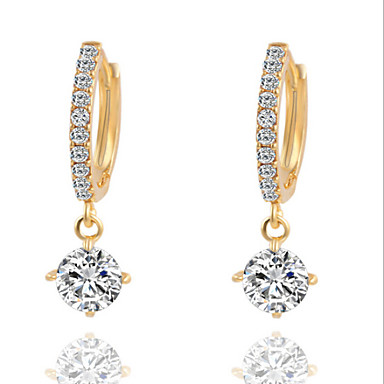 Dames Druppel oorbellen Kostuum juwelen Kubieke Zirkonia Verzilverd Sieraden Voor