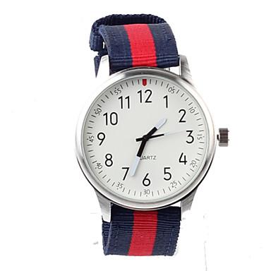 Mulheres Relógio de Moda Quartzo Impermeável Tecido Banda Amuleto Cores Múltiplas