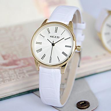 Mulheres Relógio de Moda Quartzo Venda imperdível Couro Banda Luxo Preta Branco Marrom