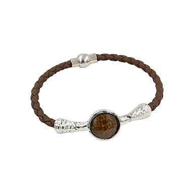 Dames Lederen armbanden Luxe Sieraden Leder Hars imitatie Diamond Legering Zilver Gouden Sieraden VoorBruiloft Feest Dagelijks Causaal