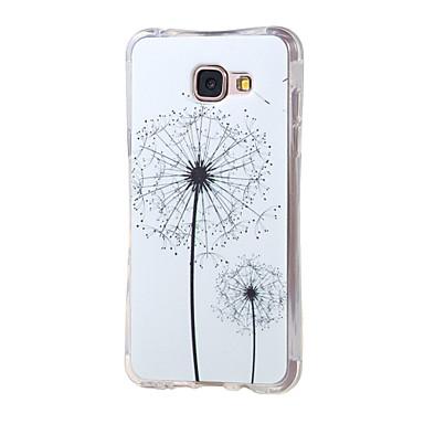 Para Samsung Galaxy Capinhas Case Tampa Antichoque Estampada Capa Traseira Capinha dandelion PUT para Samsung A5(2016) A3(2016)