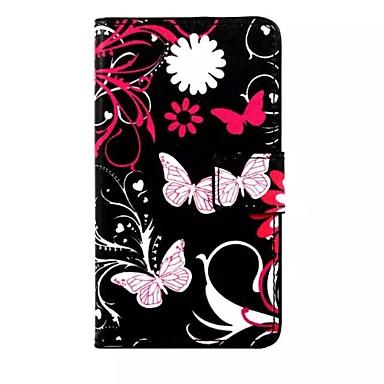Para Samsung Galaxy Capinhas Carteira / Porta-Cartão / Com Suporte / Flip Capinha Corpo Inteiro Capinha Borboleta Couro PU Samsung S7