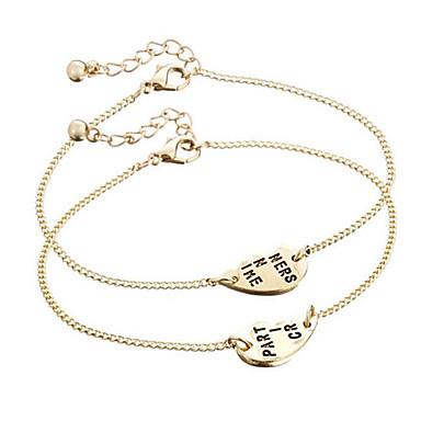 Dames Armbanden met ketting en sluiting Inspirerend Legering Zilver Gouden Sieraden Voor Dagelijks Causaal Kerstcadeaus 1 Set