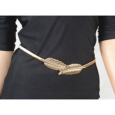 Feminino Bijuteria de Corpo Corrente de Barriga Cadeia corpo / Cadeia de barriga Original Moda Europeu Liga Formato de Folha Jóias Jóias