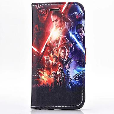 Voor iPhone 5 hoesje Portemonnee / met standaard / Flip / Magnetisch hoesje Volledige behuizing hoesje Cartoon Hard PU-leer iPhone SE/5s/5