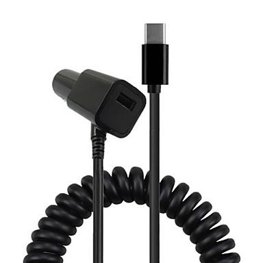 cwxuan® spring usb 3.1 tipo-c 5v 2a cabo de carregador de carro para iphone 8 7 samsung galaxy s8 s7