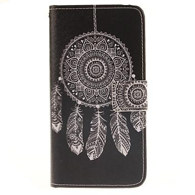 Voor Samsung Galaxy hoesje Kaarthouder / met standaard / Flip / Patroon / Magnetisch hoesje Volledige behuizing hoesje Dromenvanger