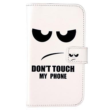hoesje Voor Samsung Galaxy Samsung Galaxy hoesje Kaarthouder Portemonnee met standaard Flip Volledig hoesje Woord / tekst PU-nahka voor