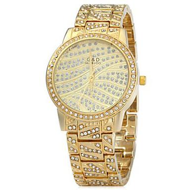 Dames Modieus horloge Kwarts Roestvrij staal Band Zilver Goud Goud Zilver