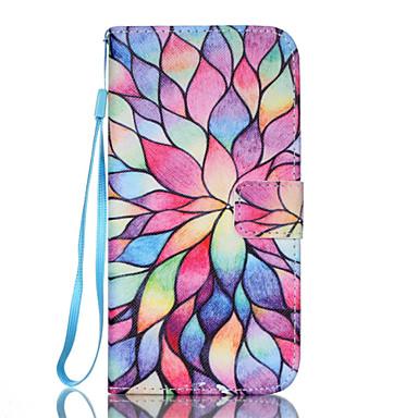 Para Samsung Galaxy S7 Edge Carteira / Porta-Cartão / Com Suporte / Flip Capinha Corpo Inteiro Capinha Flor Couro PU Samsung S7 edge / S7