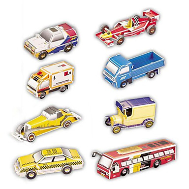 Quebra-Cabeças 3D Maquetes de Papel Carros de brinquedo Brinquedos Carro 3D 8 Peças