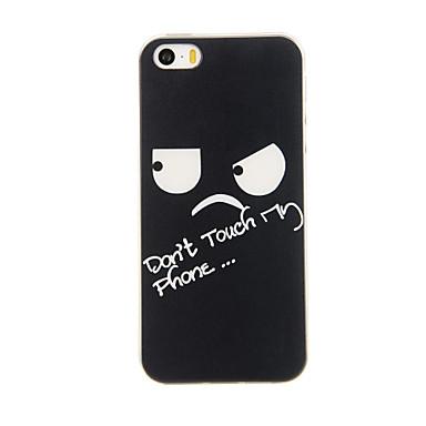hoesje Voor iPhone 5 iPhone 5 hoesje Patroon Achterkant Woord / tekst Zacht TPU voor iPhone SE/5s iPhone 5