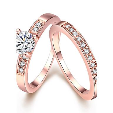 Anéis Pedras dos signos Casamento / Pesta / Diário / Casual Jóias Zircão / Chapeado Dourado / Opala Feminino Anéis Statement 1conjunto,7