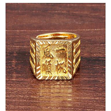 Ringen Feest / Dagelijks / Causaal Sieraden Legering Heren Statementringen 1 stuks,8 Gouden
