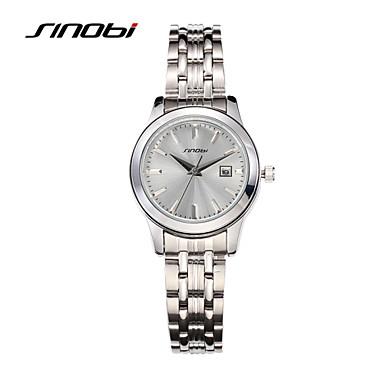 preiswerte Damen Uhren-SINOBI Damen Uhr Luxus-Armbanduhren Armbanduhr Quartz Legierung Silber 30 m Wasserdicht Kalender Analog damas Luxus Modisch Elegant Silber
