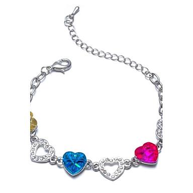 Dames Armbanden met ketting en sluiting Uniek ontwerp Modieus Kristal Liefde Regenboog Sieraden Voor Bruiloft Feest Dagelijks Causaal1