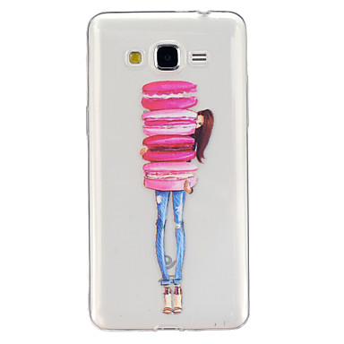 Para Samsung Galaxy Capinhas Case Tampa Transparente Estampada Capa Traseira Capinha Desenho Animado PUT para Samsung Galaxy J5 Grand