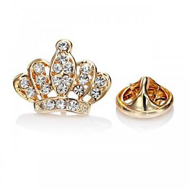 Dames Broches Luxe Modieus Europees Strass Gesimuleerde diamant Legering Kroonvorm Sieraden Voor Feest Speciale gelegenheden Verjaardag
